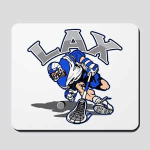 Lacrosse Player In Blue Mousepad