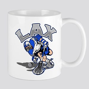 Lacrosse Player In Blue Mug