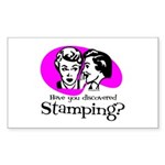 Discovered Stamping Rectangle Sticker