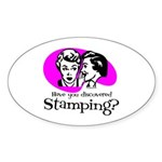 Discovered Stamping Oval Sticker