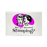 Discovered Stamping Rectangle Magnet (10 pack)