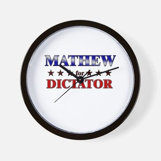 MATHEW for dictator Wall Clock