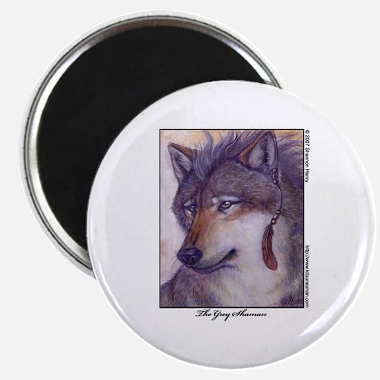 Grey Shaman Wolf Magnet