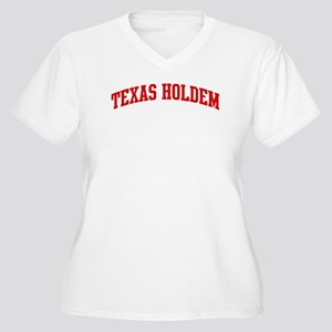 Texas Holdem (red curve) Women's Plus Size V-Neck