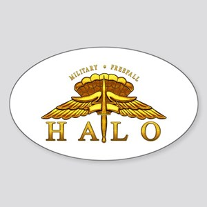 Golden Halo Badge Oval Sticker