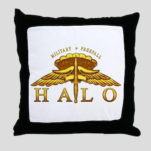 Golden Halo Badge Throw Pillow
