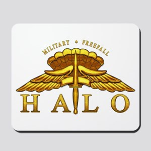 Golden Halo Badge Mousepad