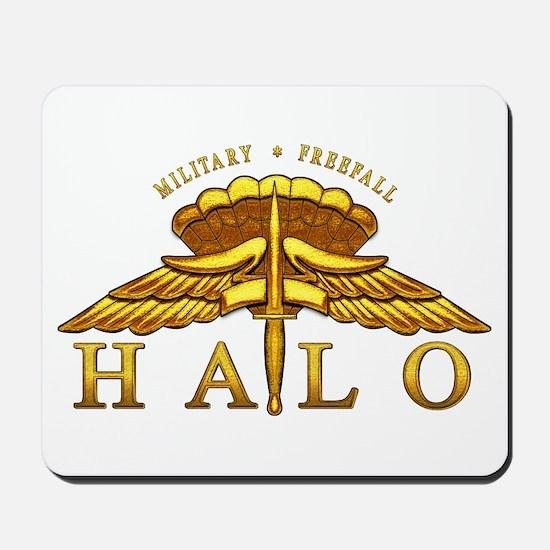 Golden Halo Badge Mousepad