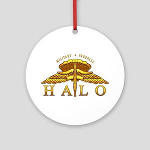 Golden Halo Badge Ornament (Round)