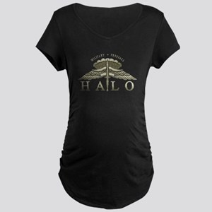 Halo Badge Maternity Dark T-Shirt