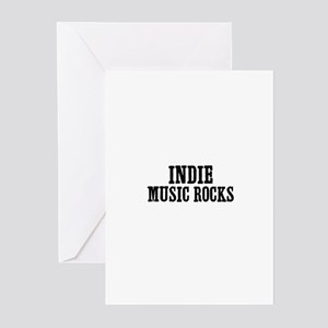 Indie Music Rocks Greeting Cards (Pk of 10)