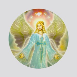 heavenly angel Round Ornament