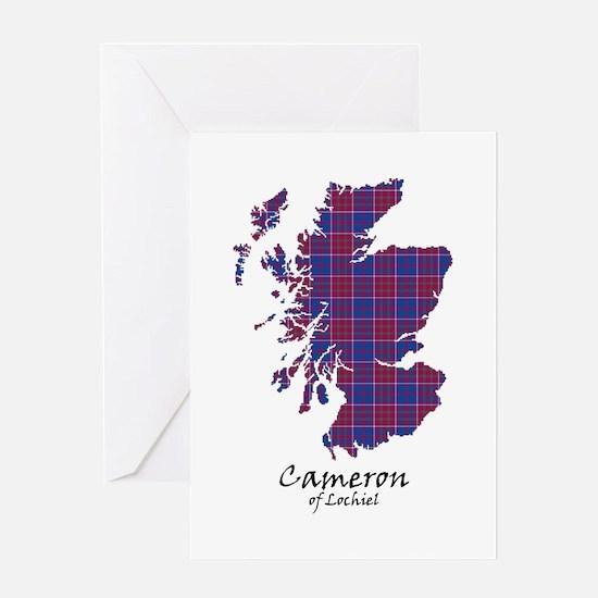 Map-Cameron of Lochiel Greeting Card