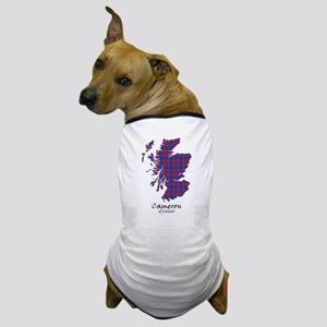 Map-Cameron of Lochiel Dog T-Shirt