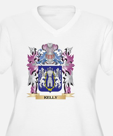 Kelly Coat of Arms - Family Cres Plus Size T-Shirt