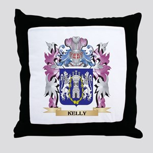 Kelly Coat of Arms - Family Crest Throw Pillow