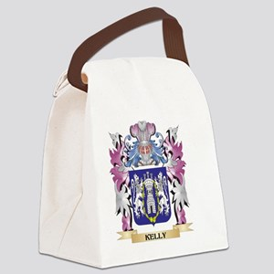 Kelly Coat of Arms - Family Crest Canvas Lunch Bag