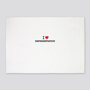I Love REPRESENTATION 5'x7'Area Rug