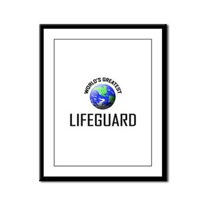 World's Greatest LIFEGUARD Framed Panel Print