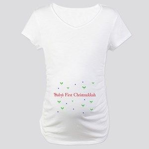 Baby's First Chrismukkah Maternity T-Shirt