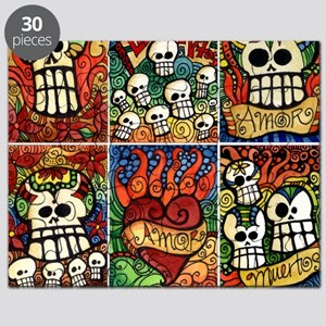 Day of the Dead Sugar Skulls Puzzle