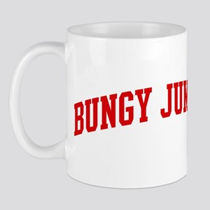 Bungy Jumping (red curve) Mug