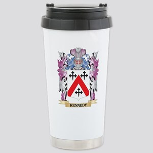 Kennedy- Coat of Arms - Stainless Steel Travel Mug