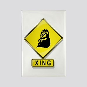 Baboon XING Rectangle Magnet