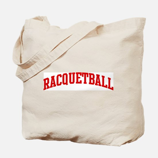 Racquetball (red curve) Tote Bag
