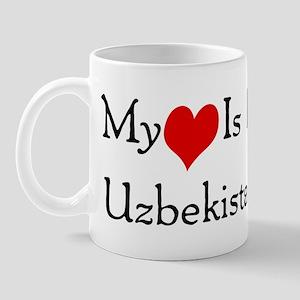 My Heart Is In Uzbekistan Mug