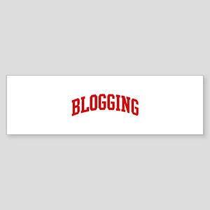Blogging (red curve) Bumper Sticker