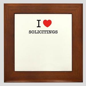 I Love SOLICITINGS Framed Tile