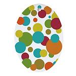 Retro Dots Keepsake Oval Ornament