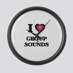 I Love GROUP SOUNDS Large Wall Clock