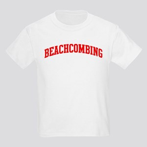 Beachcombing (red curve) Kids Light T-Shirt