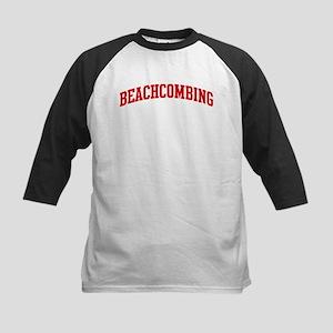 Beachcombing (red curve) Kids Baseball Jersey
