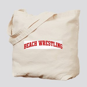 Beach Wrestling (red curve) Tote Bag