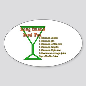 Long Island Iced Tea Oval Sticker