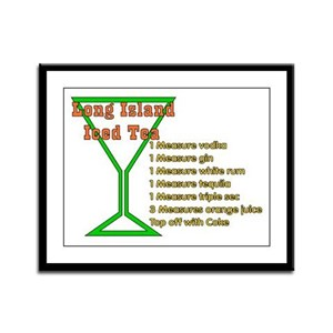 Long Island Iced Tea Framed Panel Print