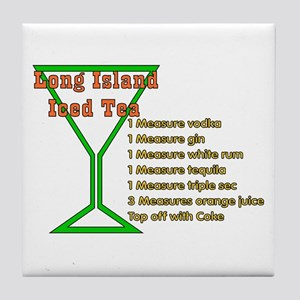 Long Island Iced Tea Tile Coaster