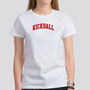 Kickball (red curve) Women's T-Shirt