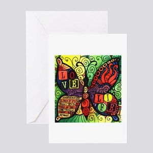 Love - Life - Inspirational Butterf Greeting Cards