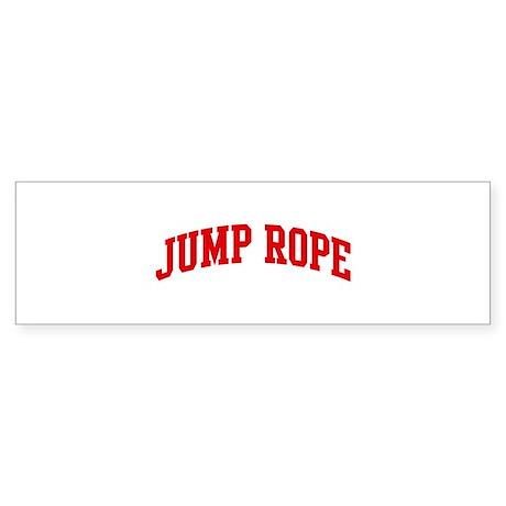 Jump Rope (red curve) Bumper Sticker