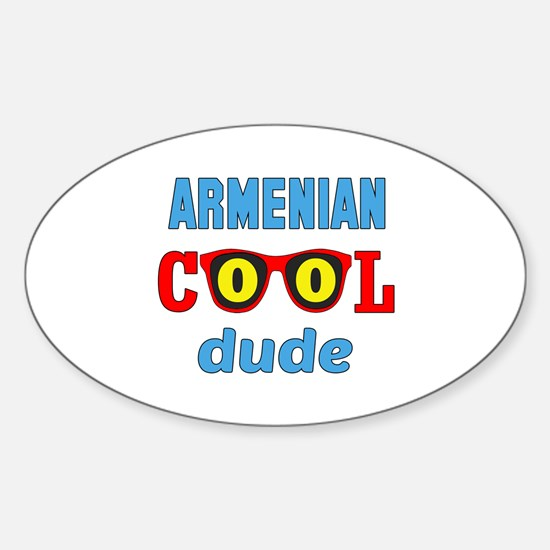 Armenian Cool Dude Sticker (Oval)