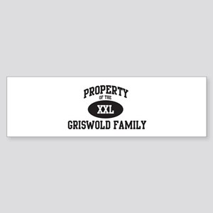 Property of Griswold Family Bumper Sticker