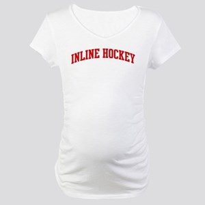 Inline Hockey (red curve) Maternity T-Shirt