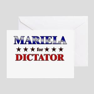 MARIELA for dictator Greeting Card