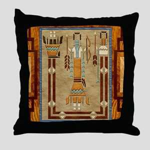 Harvest Moons Navajo Sand Painting Throw Pillow
