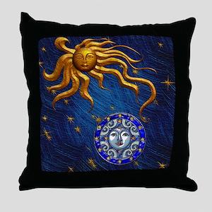 Harvest Moons Sun & Moon Throw Pillow