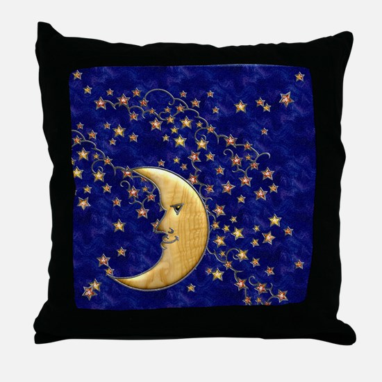 Harvest Moons Man in the Moon Throw Pillow